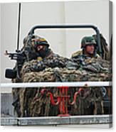 A Vw Iltis Recce Jeep On Guard Canvas Print