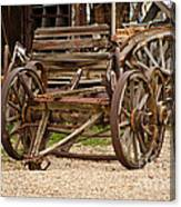 A Wagon And Wheels Canvas Print