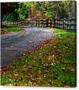 A Walk In An Autumn Afternoon Canvas Print