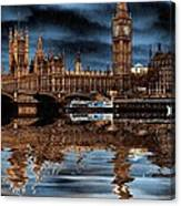 A Wet Day In London Canvas Print