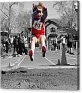 A Winning Jump Canvas Print