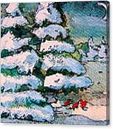 A Winter Feast Canvas Print
