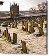 A Winter Graveyard Canvas Print
