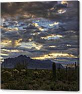 A Winter Sunrise In The Desert  Canvas Print