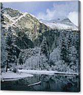A Winter View Of The Merced River Canvas Print
