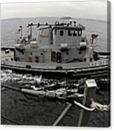 A Yokosuka Naval Tugboat Prepares Canvas Print