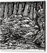 Aaron Battles The Ogre Canvas Print