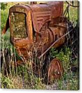 Abandonded Farm Tractor 1 Canvas Print