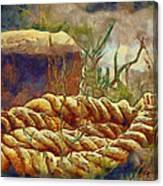 Abandoned Bollard Canvas Print