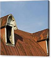 Abandoned Building Roof 1 A Canvas Print