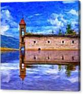 Abandoned Church In Macedonia Canvas Print