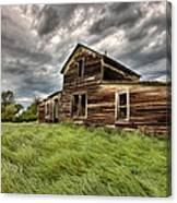 Abandoned Farm Buildings Saskatchewan Canvas Print