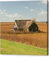Abandoned Farmhouse In Field 2 Canvas Print