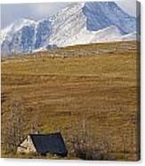 Abandoned Farmhouse Outside Of Waterton Canvas Print