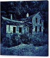 Abandoned House At Night Canvas Print