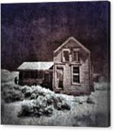 Abandoned House In Infrared Canvas Print