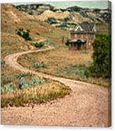 Abandoned House On Dirt Road Canvas Print