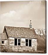Abandoned Montana Shcoolhouse Canvas Print