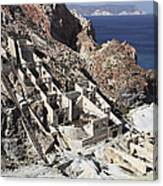 Abandoned Sulfur Processing Facility Canvas Print