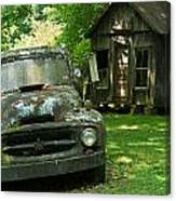 Abandoned Truck At Post Office Canvas Print