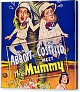 Abbott And Costello Meet The Mummy Canvas Print