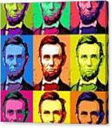 Abe Pop Canvas Print