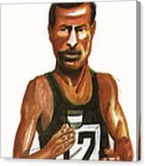 Abebe Bikila Canvas Print