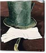 Aberaham Lincolns Hat, Cane And Gloves Canvas Print