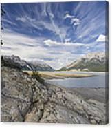 Abraham Lake Created By Bighorn Dam Canvas Print