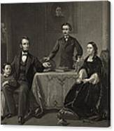 Abraham Lincoln And Family Canvas Print