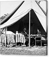 Abraham Lincoln Meeting With General Mcclellan - Antietam - October 3 1862 Canvas Print