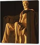 Abraham Lincoln Statue In Lincoln Canvas Print