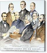 Abraham Lincolns Cabinet Canvas Print