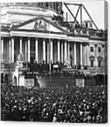 Abraham Lincolns First Inauguration - March 4 1861 Canvas Print