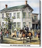 Abraham Lincolns Home Canvas Print