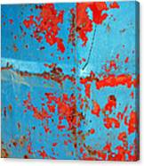 Abstrac Texture Of The Paint Peeling Iron Drum Canvas Print