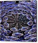 Abstract - Blue Diamonds Canvas Print