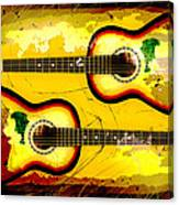 Abstract Acoustic Canvas Print