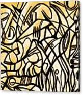 Abstract Art Gold Canvas Print