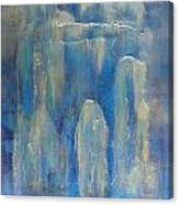 Abstract Blue Ice Canvas Print