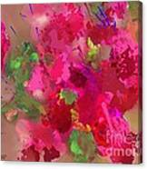 Abstract Bougainvillea Painting Floral Wall Art Canvas Print