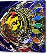 Abstract Busy Bee Fish Canvas Print