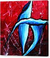 Abstract Calla Lilly Textured Painting Greeting Lillies By Madart Canvas Print