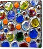 Abstract Digital Art Multi Colored Glass Balls Canvas Print