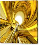 Abstract Gold Rings Canvas Print