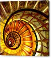 Abstract Golden Nautilus Spiral Staircase Canvas Print