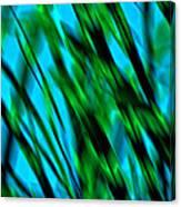 Abstract Green Grass Canvas Print