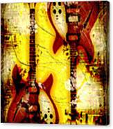 Abstract Grunge Guitars Canvas Print