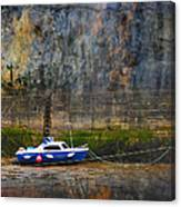 Abstract Harbour And Boat Canvas Print