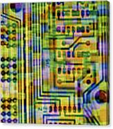 Abstract Image Of A Circuit Board. Canvas Print